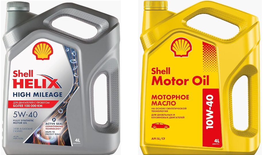 Shell Helix High Mileage 5W-40, Shell Motor Oil 10W-40